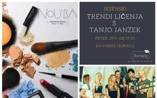 Jesenski trendi ličenja s Tanjo Janžek in kozmetiko Nouba