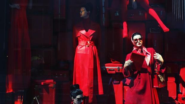 Obisk New Yorka ne sme miniti brez ogleda izložb znamenite veleblagovnice Bergdorf Goodman, pravi Miha. (foto: osebni arhiv)