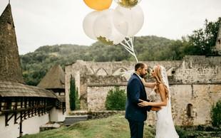 Sanjska poroka Jerneje P. Zhembrovskyy: Pet poročnih oblek