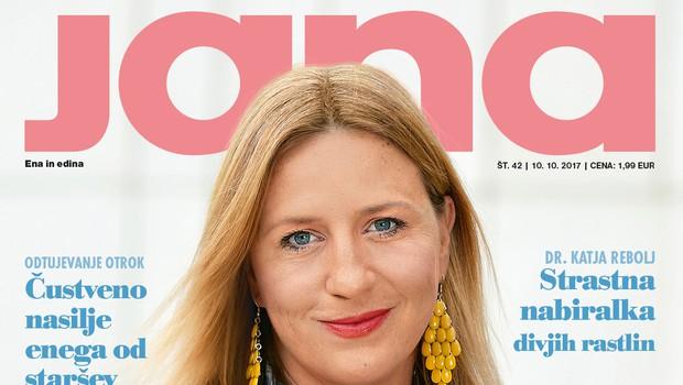 Nina Valič v intervjuju za novo Jano: Štirideseta so dober alibi! (foto: revija Jana, naslovnica, 42/2017)
