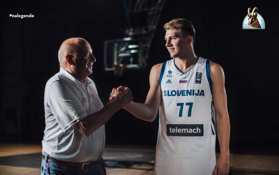 Ivo Daneu in Luka Dončić (foto: Laško)