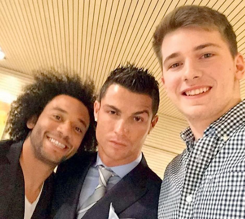 Večkrat je poziral tudi že s trenutno  najboljšim nogometašem  na svetu Cristianom Ronaldom. (foto: Profimedia, osebni arhiv)