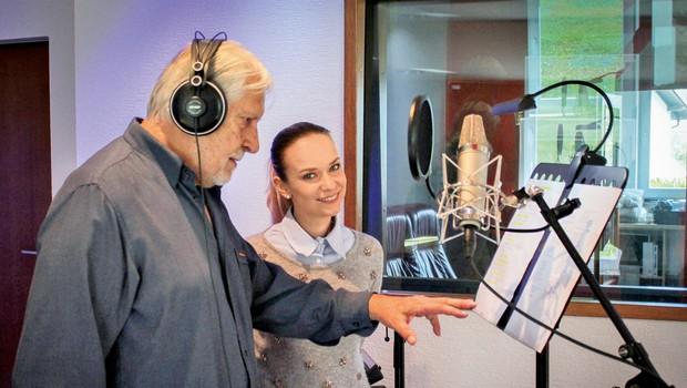 Ylenia: V studiu z Borisom Cavazzo (foto: Tadej Mihelič)