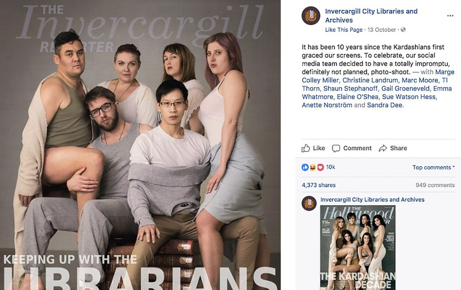 Knjižničarji iz Nove Zelandije z imitacijo slike Kardashianovih osvojili internet (foto: profimedia)