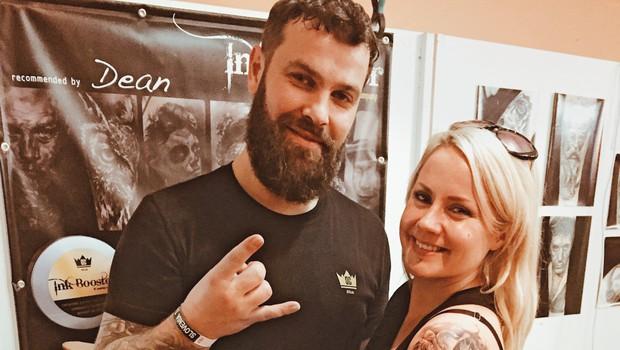 Jerica Zupan z novim tatujem (foto: Mima)