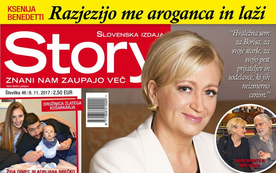 """Ksenija Benedetti: """"Hvaležna sem za svoje življenje."""" Več v novi Story! (foto: revija Story)"""