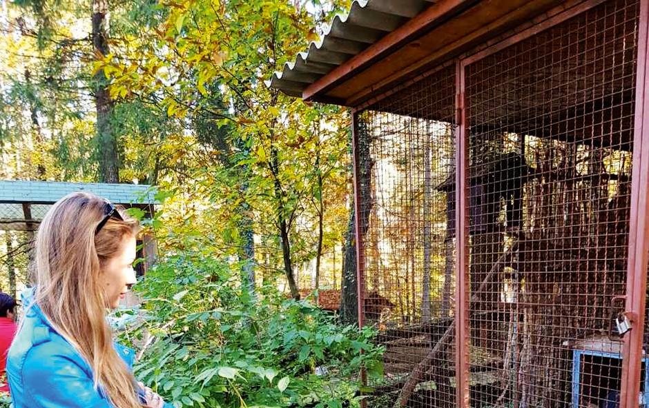 Tara Zupančič izstopala v živalskem vrtu (foto: N.  Divja)
