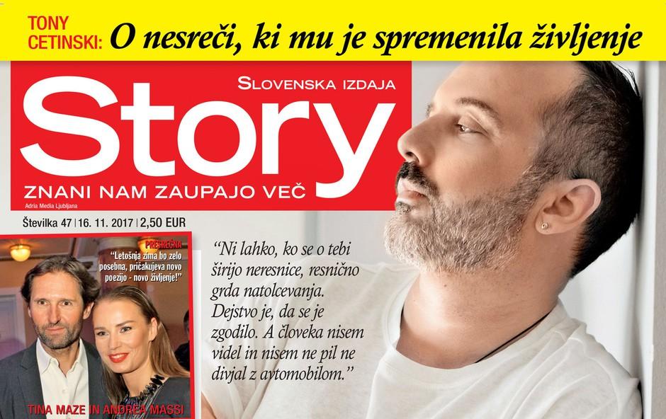 """Tony Cetinski: """"Resnično mi je težko!"""" Več v novi Story! (foto: Story)"""