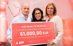 Z akcijo Mali koraki za velik cilj so zbrali 61.000 evrov
