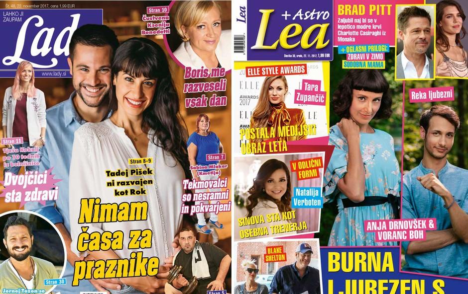 Tadej Pišek v novi Lady: Nimam časa za praznike! Nova Lea: Anja Drnovšek in Voranc Boh: Burna ljubezen s TV-zaslonov! (foto: Lea, Lady)