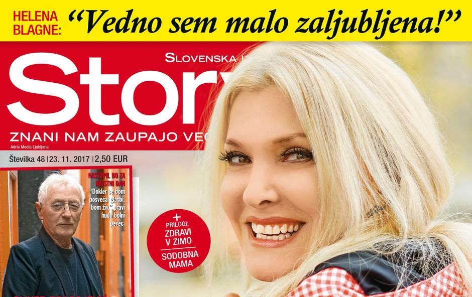 """Helena Blagne: """"Vedno sem malo zaljubljena!"""" Več v novi Story! (foto: Story)"""
