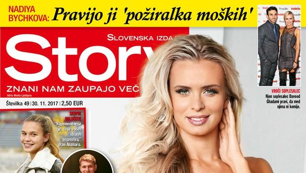 "Nadiya Bychkova: Pravijo ji ""požiralka moških""! Več v novi Story! (foto: Story)"