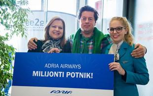 Milijonti potnik Adrie Airways
