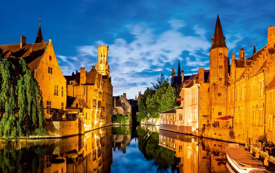Mesto Brugge velja za belgijske Benetke (foto: Shutterstock)