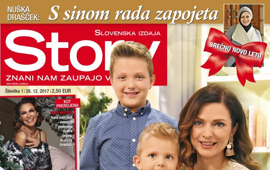 Natalija Verboten za novo Story: Otroka sta na prvem mestu (foto: Revija Story)