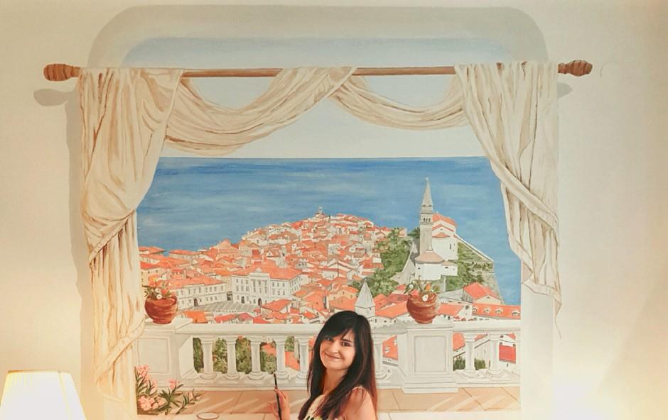 Samouka slikarka Neža Erjavec se je učila prek YouTuba (foto: Osebni arhiv)