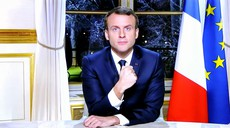 """Emmanuel Macron """"žrtev"""" potegavščine ruskih komikov"""