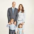 Princ William in vojvodinja Kate na družinskem portretu