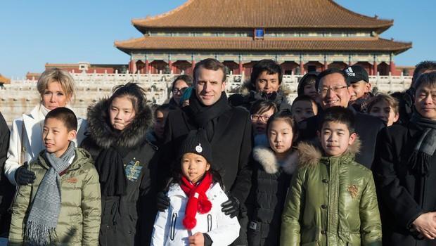 Macron se uči kitajščine, Kitajci pa navdušeni! (foto: profimedia)
