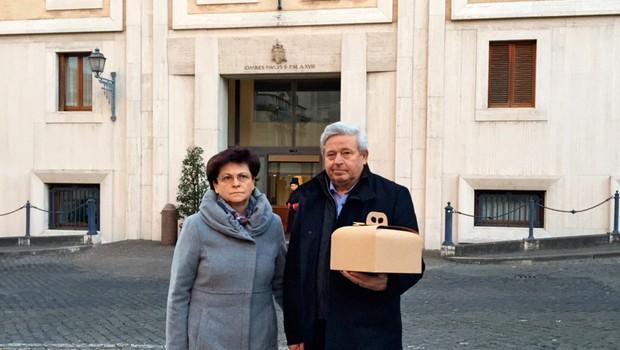 V Vatikanu zadišalo po slovenski potici (foto: Osebni arhiv)