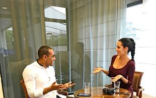 Tina Gaber v Braziliji srečala Marcosa Tavaresa