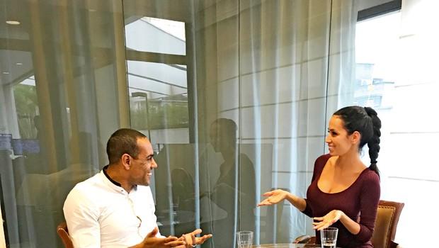Tina Gaber v Braziliji srečala Marcosa Tavaresa (foto: Osebni arhiv)