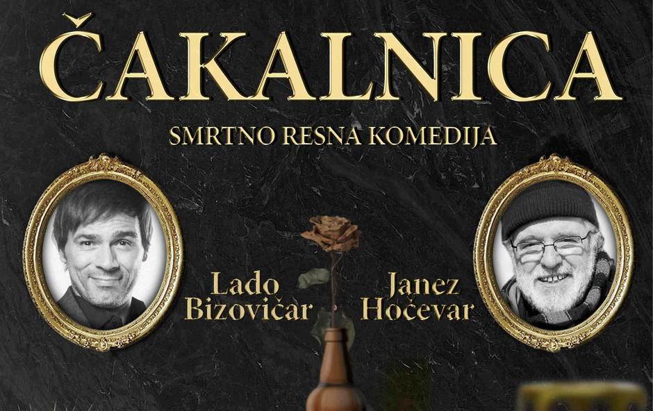 Lado Bizovičar in Janez Hočevar v Čakalnici, ki je za crknit smešna komedija! (foto: SitiTeater Press)