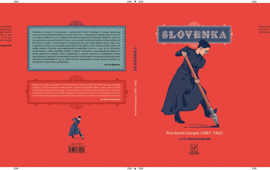 Knjiga o Slovenki, prvem slovenskem ženskem časopisu (foto: EVGENIYA MARIA SHKONDA)