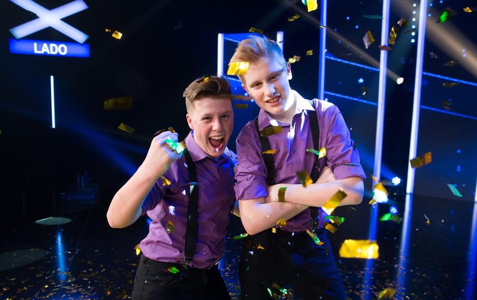 """Timotej in Lenart (Slovenija ima talent): """"Ne bodite se pokazati svojih talentov!"""" (foto: Wild Art / Pop Tv)"""