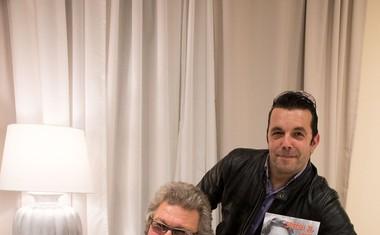 Legendarni Ivo Mojzer s častnim gostom Rokom Ferengjo predstavil svojo avtobiografijo