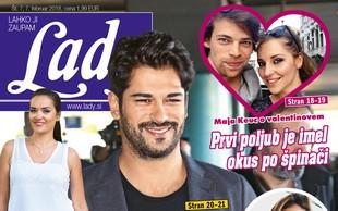 Burak Özçivit obnorel Slovenke - z ženo kmalu v filmu! Več v novi Lady!