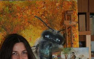 Anja Bunderla v umetnost vključuje - čebele!