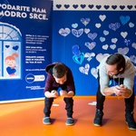 Rok Perko otrokom prinesel zimski olimpijski duh (foto: Nivea Modro srce Press)