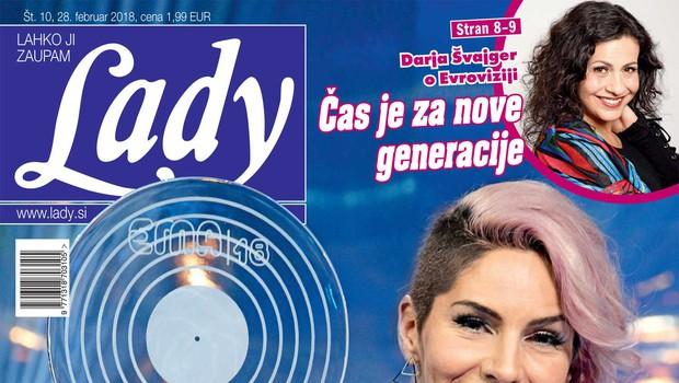 Lea Sirk razdelila Slovenijo: Tretjič na Evrovizijo. Več v novi Lady! (foto: Lady)