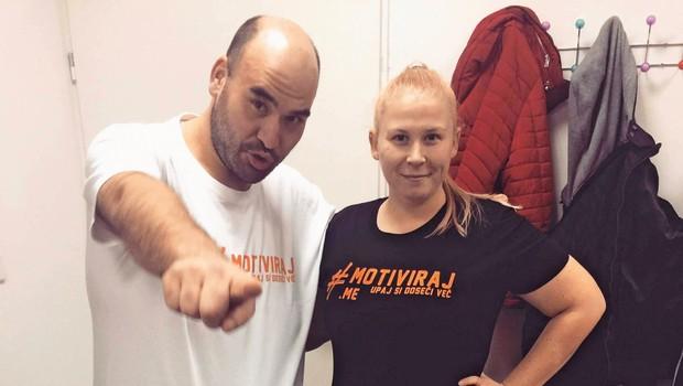Aleš Hrvatin in Maja Cimermanič: Kilogramov je vse manj! (foto: Osebni arhiv)