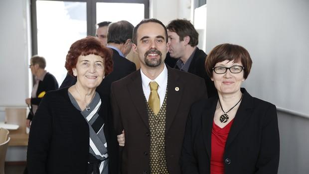 Adela Pislak Bali, Robert Bali in Milena Pislak, žena Janka Pislaka, po katerem so poimenovali dogodek Pislakov dan. (foto: Tina Ramujkić)
