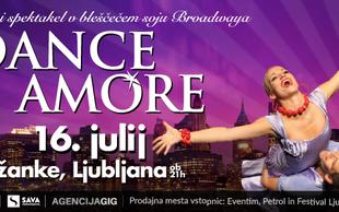 Dance Amore obljublja plesni spektakel v bleščečem soju Broadwaya