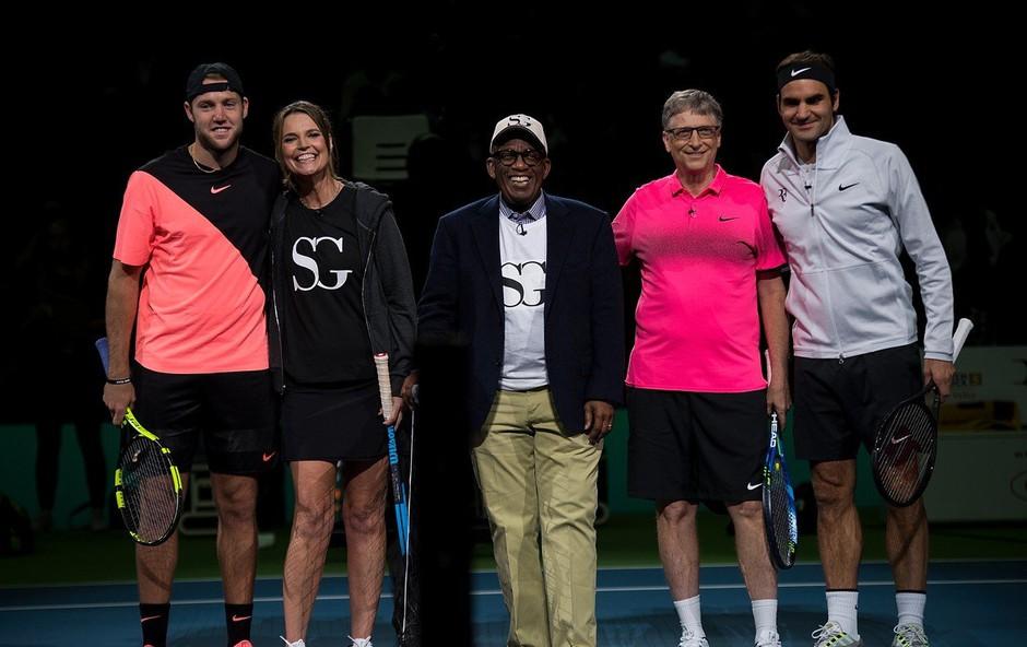 Roger Federer in Bill Gates skupaj v dobrodelne namene (foto: profimedia)