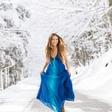 Lana Krajnc v snežni idili na Arehu