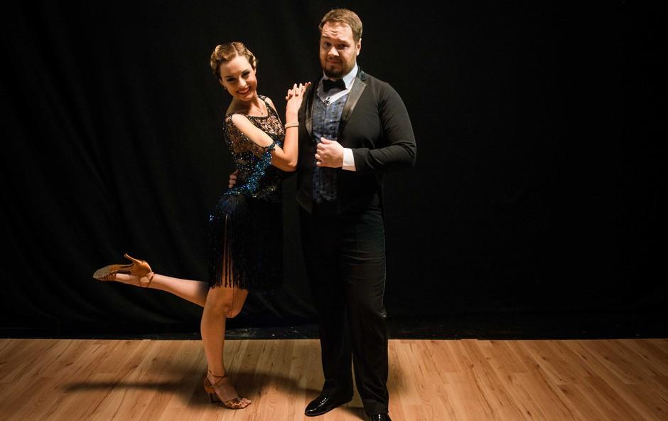 Poglejte si, kaj se je Sašu Staretu in Tadeji Pavlič pripetilo med vajami za šov Zvezde plešejo (foto: POP TV)