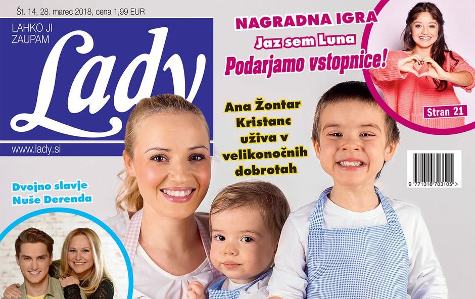 "Ana Žontar Kristanc: ""Med prazniki ne hujšam."" Več v novi Lady! (foto: Lady)"
