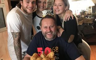 Miki Vlahovič je svoj 50. rojstni dan praznoval v najožjem krogu družine