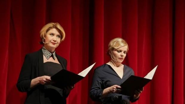 Voditeljici uvodne slovesnosti Vesna Pernarčič in Vesna Slapar. (foto: Saša Despot/Mediaspeed)