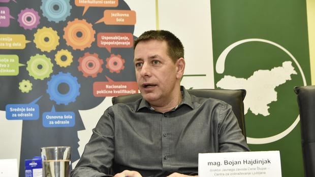 Mag. Bojan Hajdinjak, direktor javnega zavod Cene Štupar, centra za izobraževanje Ljubljana (foto: Press)