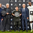 Usain Bolt, Diego Maradona in José  Mourinho na Tekmi prijateljstva