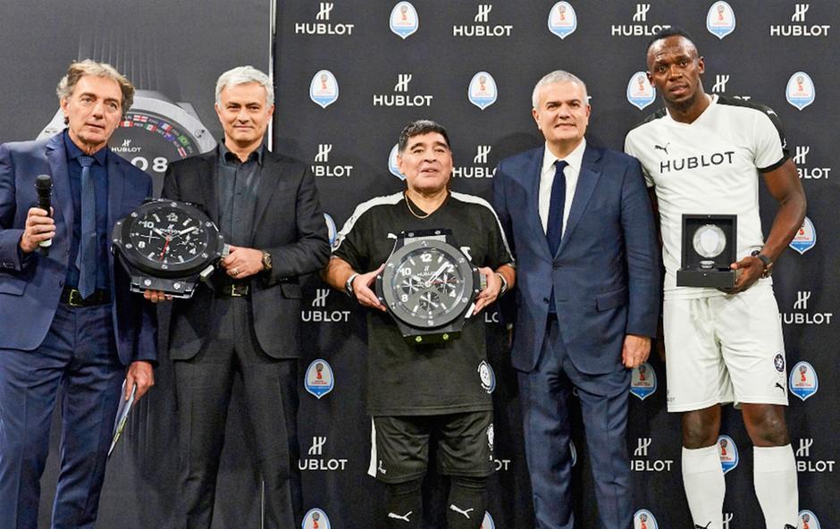Usain Bolt, Diego Maradona in José  Mourinho na Tekmi prijateljstva (foto: promocijsko gradivo)