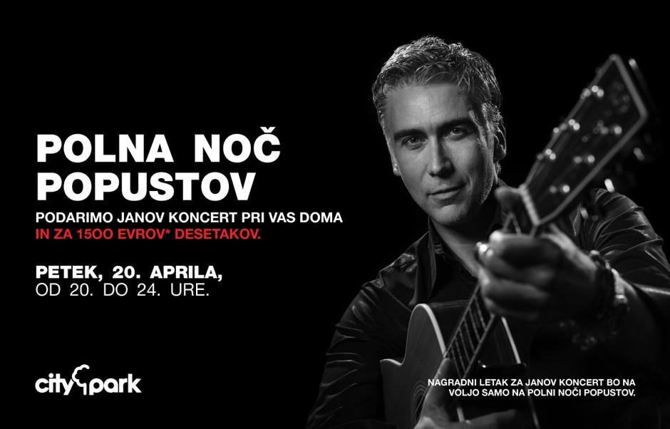 Z nočnim nakupovanjem do zasebnega koncerta Jana Plestenjaka (foto: citypark press)