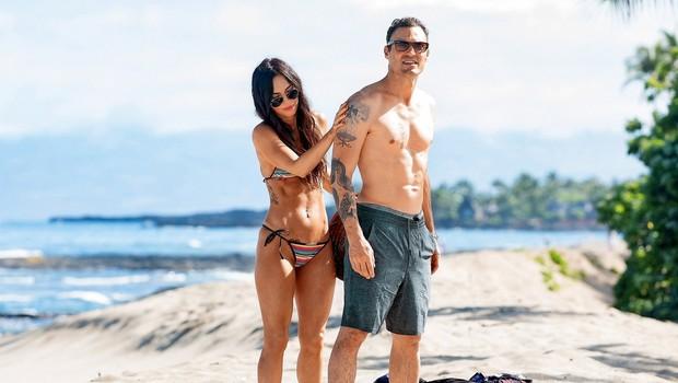 Megan Fox in Brian Austin Green: Zaljubljenca na plaži (foto: Profimedia)