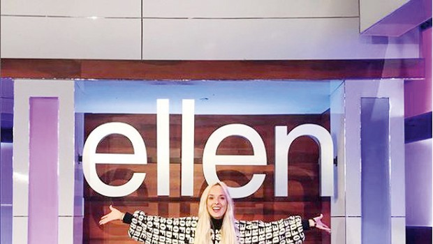Nika Kljun je nastopila pri Ellen DeGeneres! (foto: instagram)
