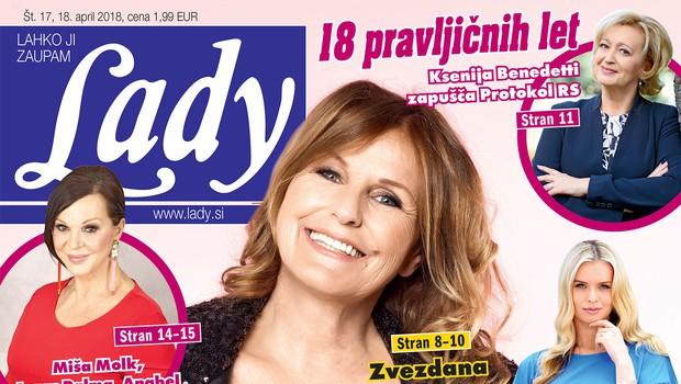 """Ksenija Benedetti: """"Bilo je nepozabno, za menoj je 18 pravljičnih let."""" (foto: LADY)"""